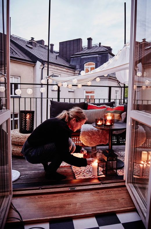 balcone luci atmosfera